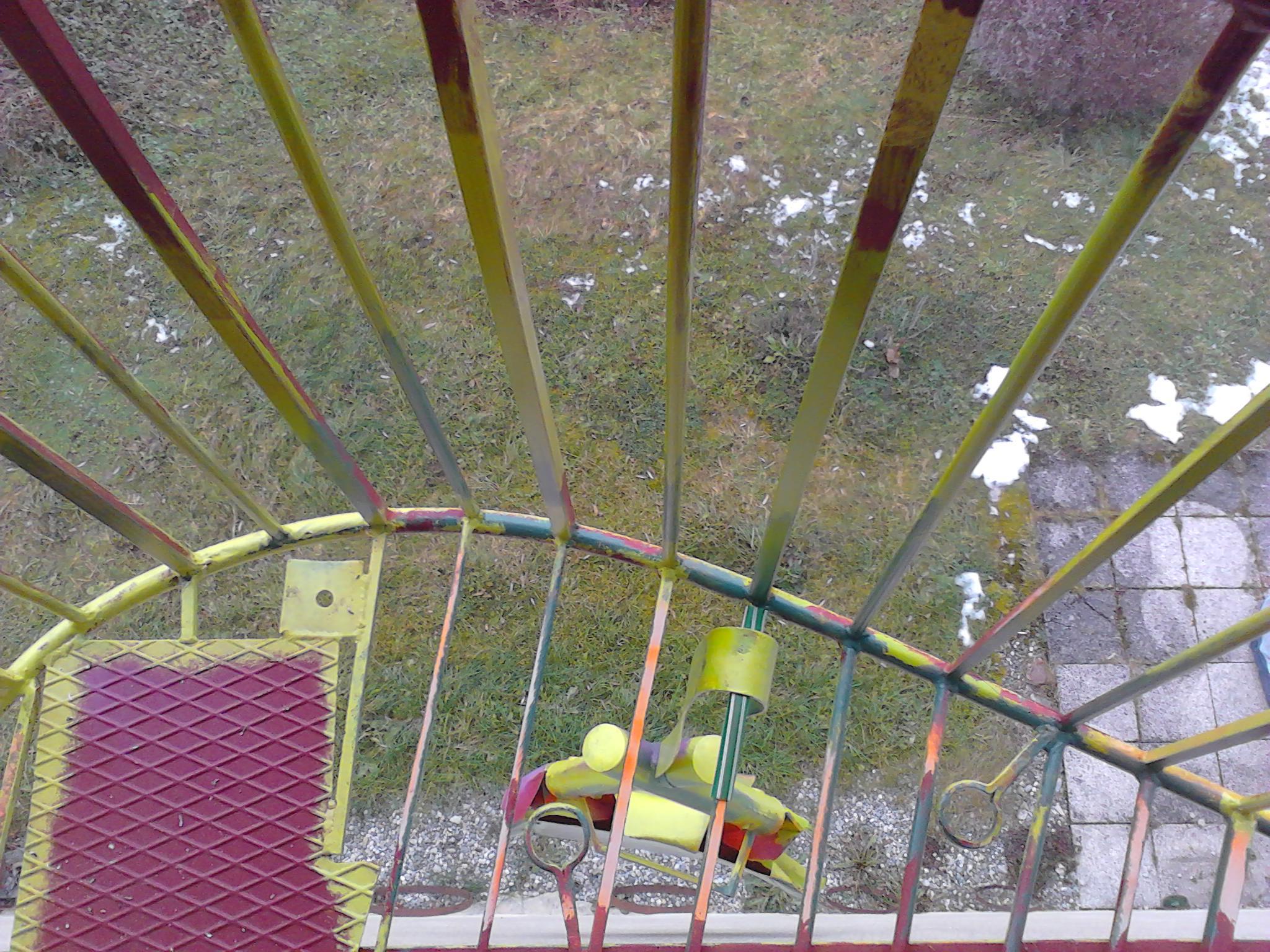 balkon&tipi mit feuer/von oben